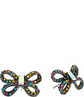 Betsey Johnson - Hematite Bow Stud Earrings