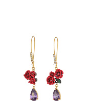 Betsey Johnson - Multicolor and Gold Flower Earrings