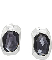 Robert Lee Morris - Black Diamond and Silver Clip Earrings