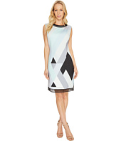 Tahari by ASL - Scuba Mesh Sheath Dress