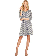 Taylor - V-Neck Geo Print Knit Jacquard Dress