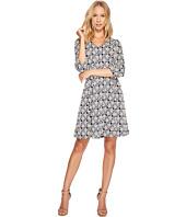 Taylor - V-Neck Geo Print Knit Jacquard Dress