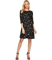 Taylor - Floral Knit Jacquard Dress