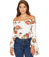 ROMEO & JULIET COUTURE - Off Shoulder Bell Sleeve Bodysuit