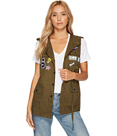ROMEO & JULIET COUTURE - Hooded Cargo Patchwork Vest