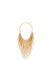 GUESS - Fringe Bib Front with Scattered Pearls Necklace