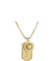 Versace - Dog Tag & Medallion Charm Necklace