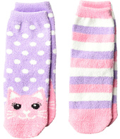 Jefferies Socks - Cat Fuzzy Slipper Socks 2-Pack (Toddler/Little Kid/Big Kid)