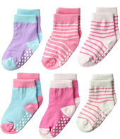 Jefferies Socks - Non-Skid Crew 6-Pack (Infant/Toddler)