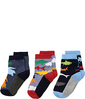 Jefferies Socks - Water Animals Crew 3-Pack (Infant/Toddler/Little Kid)
