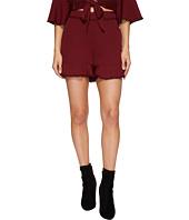 J.O.A. - Lace Trim Ruffle Shorts