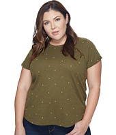 Lucky Brand - Plus Size All Over Embroidered Tee