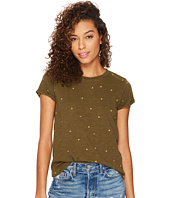 Lucky Brand - All Over Embroidered Tee