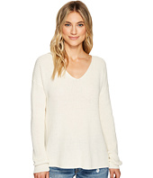 Michael Stars - Cotton Knit Long Sleeve V-Neck Pullover