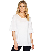 Michael Stars - Cotton Supima Crew Neck with Ruffle Sleeve