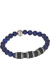 Steve Madden - Stainless Steel Lapis Stretch Bracelet