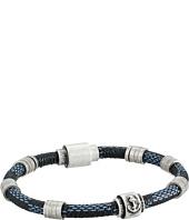 Steve Madden - Stainless Steel Rondelle/Braid Bracelet