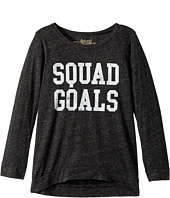 The Original Retro Brand Kids - Squad Goals 3/4 Pullover (Big Kids)