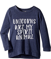 The Original Retro Brand Kids - Unicorns Are My Spirit Animal 3/4 Pullover (Big Kids)