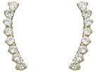 Cubic Zirconia Thin Stud Earrings