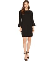 Three Dots - Shift Dress with Flounce