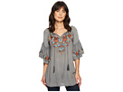 Docia Embroidered Top