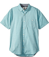 VISSLA Kids - Faster Short Sleeve Woven Top (Big Kids)