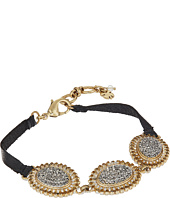 Lucky Brand - Pave Link & Leather Bracelet