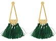Gold/Green Tassels