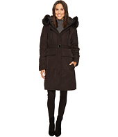 Vince Camuto - Belted Long Coat with Faux Fur Detail N8441