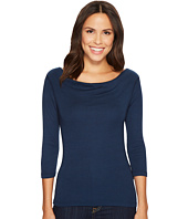 Three Dots - 3/4 Sleeve Cowl Neck Top