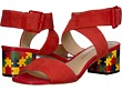 Spanish Red Suede/Puzzle Print
