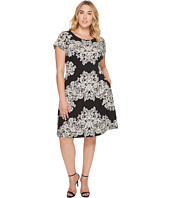 Adrianna Papell - Plus Size Lace Printed Fit & Flare