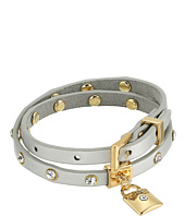 GUESS - Studded Faux Leather Wrap Bracelet with Lock