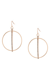 GUESS - Circle Drop with Pave Bar in Center Earrings