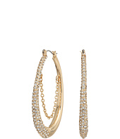 GUESS - Oval Hoop with Chain Earrings