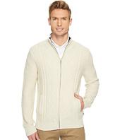 Nautica - 7 Gauge Full Zip Mock Neck Sweater
