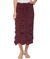 XCVI - Stretch Poplin Double Shirred Panel Skirt