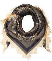 Tory Burch - Jazz Dot Silk Square Scarf with Fringe