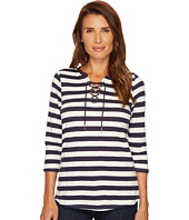 FDJ French Dressing Jeans - Stripe Jacquard 3/4 Sleeve Top