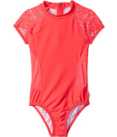 Seafolly Kids - Summer Essentials Short Sleeve Surf Tank One-Piece (Little Kids/Big Kids)
