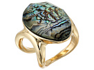 Abalone and Gold Stone Ring