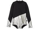 1/2 and 1/2 Long Sleeved Swimsuit (Little Kids/Big Kids)