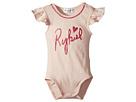 Adenora Ruffle Sleeve Bodysuit w/ Logo on Front (Infant)