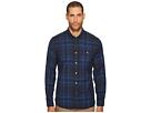 Point Collar Plaid Flannel Shirt