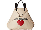 Love Moschino & Heart Canvas Backpack