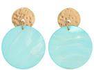Mother-of-Pearl Disc Earrings