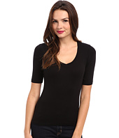 Splendid - 1x1 Half Sleeve V-Neck Top